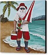 Beachen Santa Canvas Print by Darice Machel McGuire