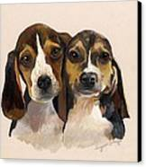 Beagle Babies Canvas Print by Suzanne Schaefer