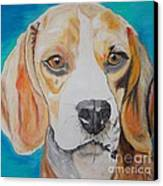 Beagle Canvas Print by PainterArtist FIN