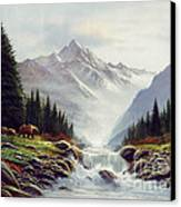 Bear Mountain Canvas Print by Robert Foster