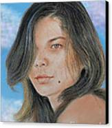 Beautiful And Sexy Actress Jeananne Goossen IIi Altered Version Canvas Print by Jim Fitzpatrick