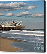 Beautiful Day At The Beach Canvas Print by Sami Martin