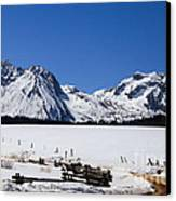 Beautiful Sawtooth Mountains Canvas Print by Robert Bales