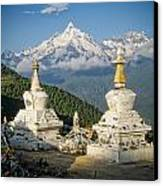 Beautiful Snow Mountain - Meili Xue Shan Canvas Print by James Wheeler