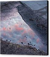 Beauty Is Everywhere - Sky Reflected In Puddle Of Water Canvas Print by Matthias Hauser