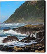 Beauty Of Oregon Coast Canvas Print by Denise Darby