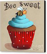 Bee Sweet Cupcake Canvas Print by Catherine Holman
