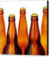 Beer Bottles Canvas Print by Jim Hughes