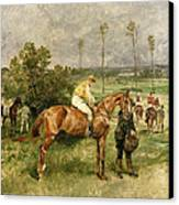 Before The Start Canvas Print by John Lewis Brown