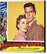Beginning Of The End 1957 Canvas Print by Mountain Dreams