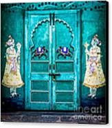 Behind The Green Door Canvas Print by Catherine Arnas