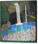 Behind The Waterfall Canvas Print by Aisha Lumumba