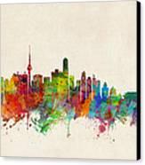 Beijing China Skyline Canvas Print by Michael Tompsett