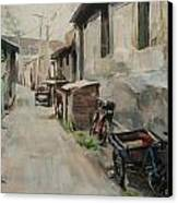 Beijing Hutong Canvas Print by Annie Salness