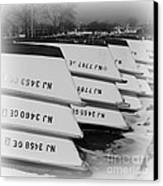 Belmar Marina Rowboats Canvas Print by Paul Ward
