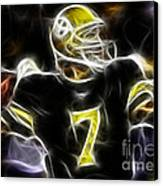 Ben Roethlisberger  - Pittsburg Steelers Canvas Print by Paul Ward