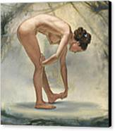 Bending Figure In Abstract Canvas Print by Paul Krapf