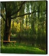 Beneath The Willow Canvas Print by Lori Deiter