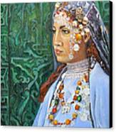Berber Woman Canvas Print by Enzie Shahmiri