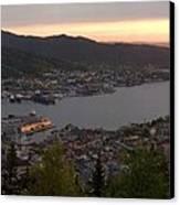 Bergen Sunset Panorama Canvas Print by Benjamin Reed