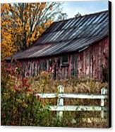Berkshire Autumn - Old Barn Series   Canvas Print by Thomas Schoeller