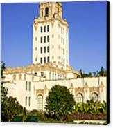 Beverly Hills Police Station Canvas Print by Paul Velgos