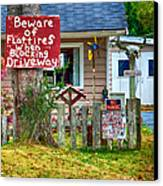 Beware Of Flat Tires Canvas Print by Trever Miller