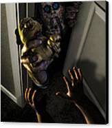 Beware Zombies Bearing Gifts Canvas Print by Randy Turnbow