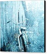 Bicycle In Blue Canvas Print by Stephanie Frey