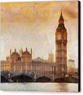 Big Ben At Dusk Canvas Print by Pixel Chimp