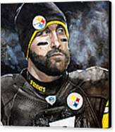 Big Ben Roethlisberger  Canvas Print by Michael  Pattison