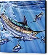 Big Blue And Tuna Canvas Print by Terry Fox