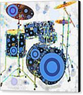 Big Boom Bullseye Canvas Print by Russell Pierce