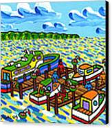 Big Dock - Cedar Key Canvas Print by Mike Segal