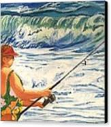 Big Momma Fishin' Canvas Print by Frank Giordano