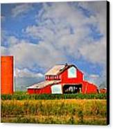 Big Red Barn Canvas Print by Marty Koch