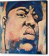 Biggie Smalls Art Painting Poster Canvas Print by Kim Wang