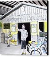 Bike Pittsburgh Canvas Print by Albert Puskaric