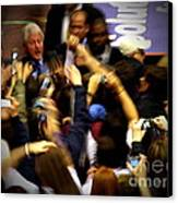 Bill Clinton At Muhlenberg College Canvas Print by Jacqueline M Lewis