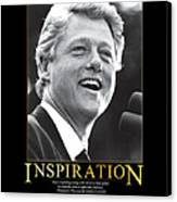 Bill Clinton Inspiration Canvas Print by Retro Images Archive