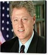 Bill Clinton Canvas Print by Georgia Fowler