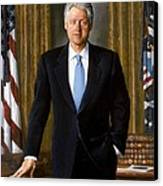 Bill Clinton Portrait Canvas Print by Tilen Hrovatic
