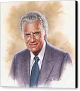 Billy Graham Evangelist Canvas Print by Dick Bobnick