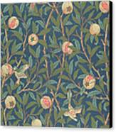 Bird And Pomegranate Canvas Print by William Morris