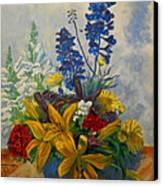 Birthday Flowers 1 Canvas Print by Brian  Pinkey