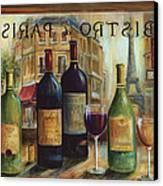 Bistro De Paris Canvas Print by Marilyn Dunlap