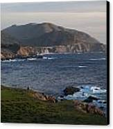Bixby Bridge And Cows Canvas Print by Mike Reid