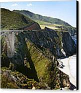 Bixby Bridge Near Big Sur On Highway One In California Canvas Print by Artist and Photographer Laura Wrede