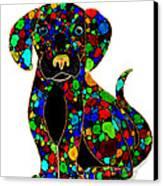 Black Dog 2 Canvas Print by Nick Gustafson