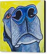 Black Lab Nose Canvas Print by Roger Wedegis
